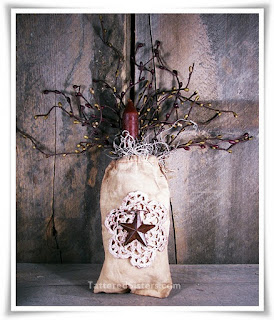 Grungy Candle Bag with Pip Berries