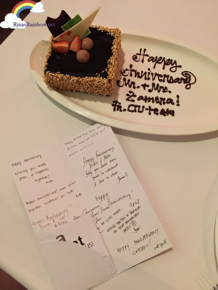 anniversary cake greeting card