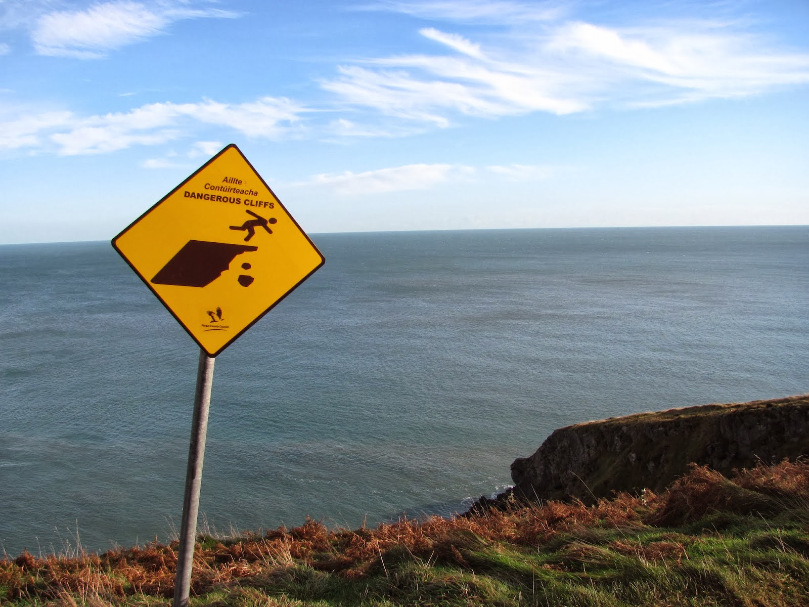 Another warning sign on Howth, Co. Dublin, Ireland