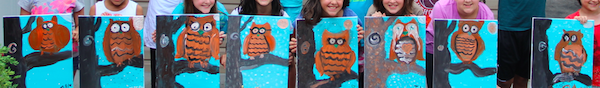 Minion Parties and #KinderSmiles - owl art