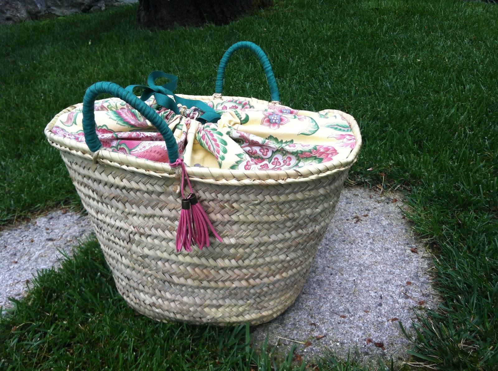 Que cestos cesta de playa modelo cierre estampado - Cestas para la playa ...