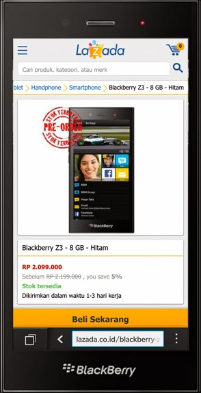 BLACKBERRY Z30 - by Lazada