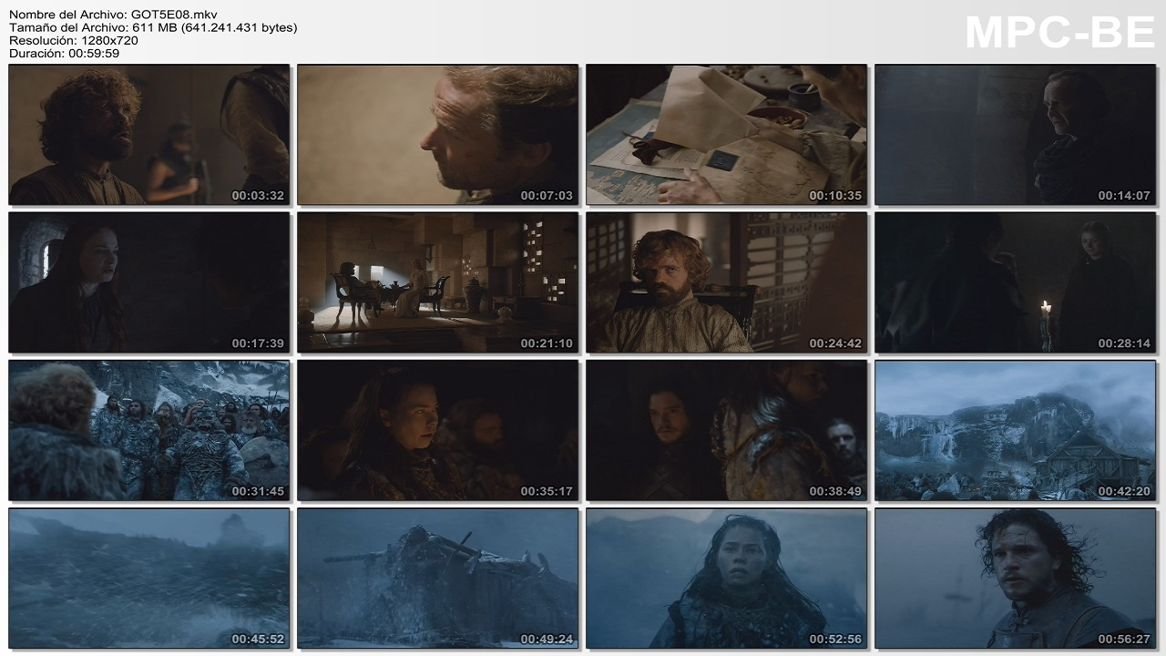 Games Of Thrones S5 (08/10) 720p Latino