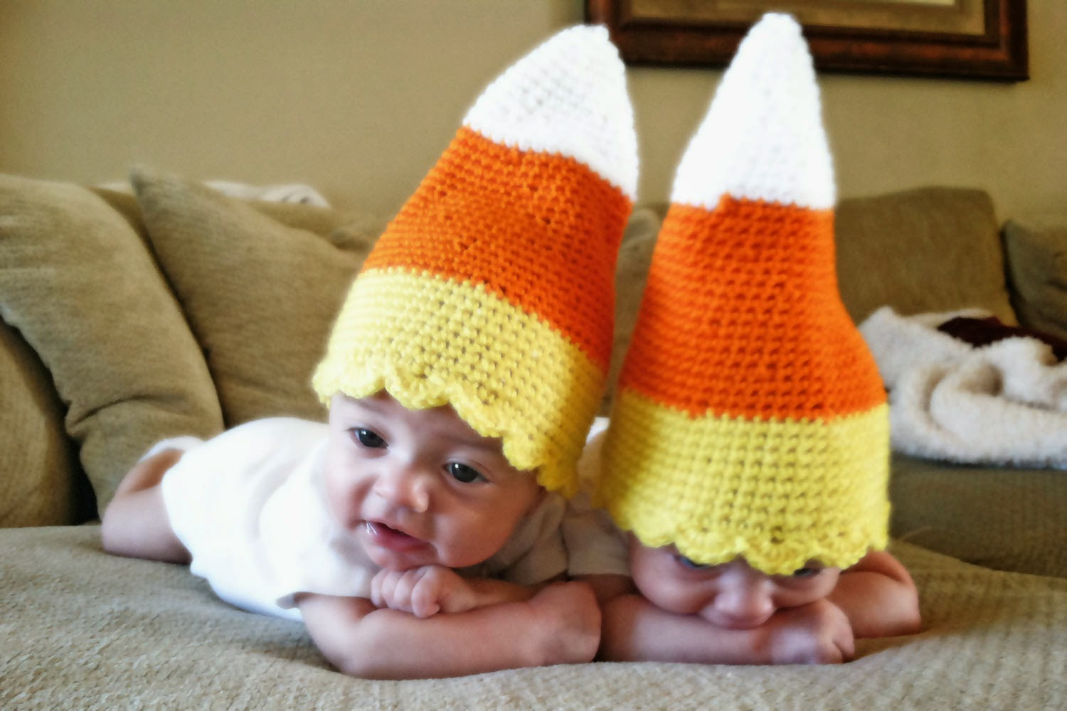 Free Crochet Patterns For Baby Halloween Hats : Crochet Rochelle: Baby Candy Corn Hat