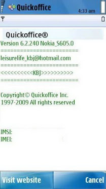 QuickOffice Premium 6.2.240 For Nokia S60V5