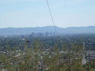 View of downtown Phoenix from Shaw Butte by Giselle Aguiar