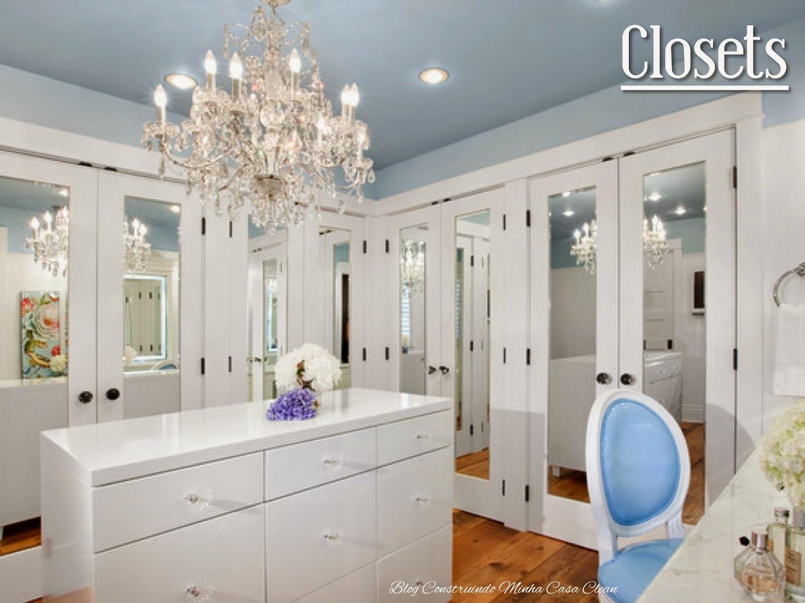 Construindo minha casa clean closet com ou sem porta modelos lindos pequenos e famosos - Classy bathroom closet design ...