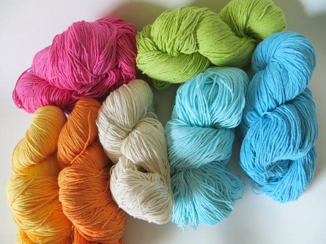 madejas de hilo de algodón