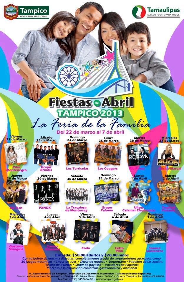 programa fiestas de abril tampico
