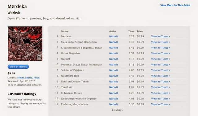 WARKVLT - Merdeka Now Available On iTunes International !!!