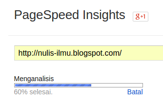 Google Pagespeed Insights - Analisis