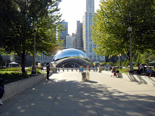 Cloud Gate, aka Chicago Bean, in downtown Chicago, Illinois