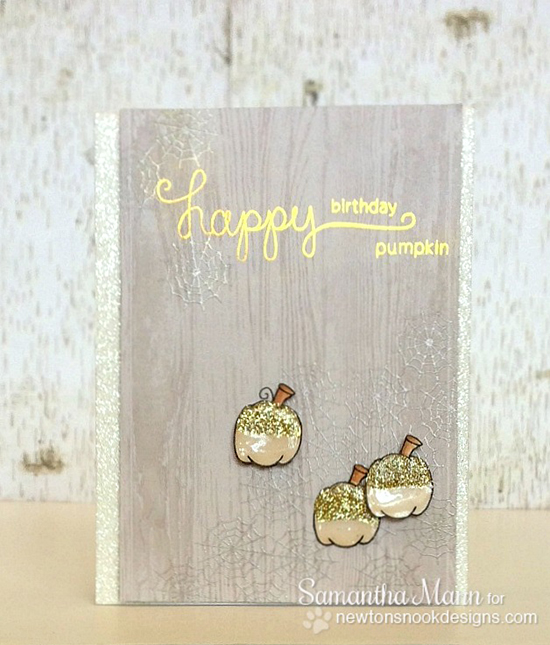 Pumpkin Halloween card by Samantha Mann for Newton's Nook Designs | Newton's Perfect Pumpkin Stamp Set