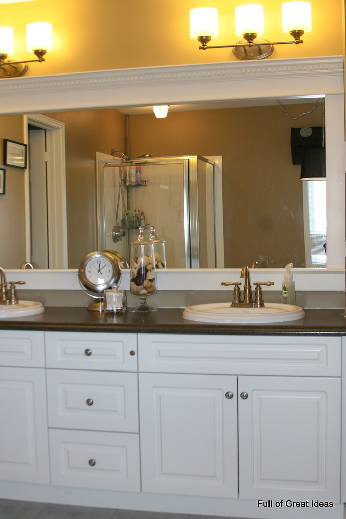 Full Of Great Ideas: How To Upgrade Your Builder Grade Mirror   Frame It!
