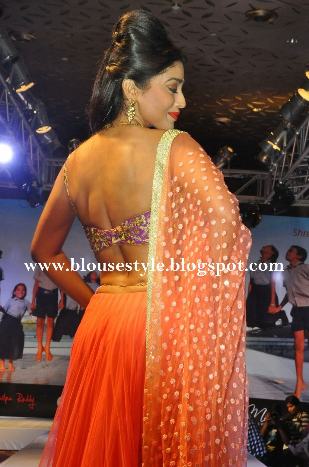 SHRIYA IN ORANGE  COLOR CHOLI BLOUSE