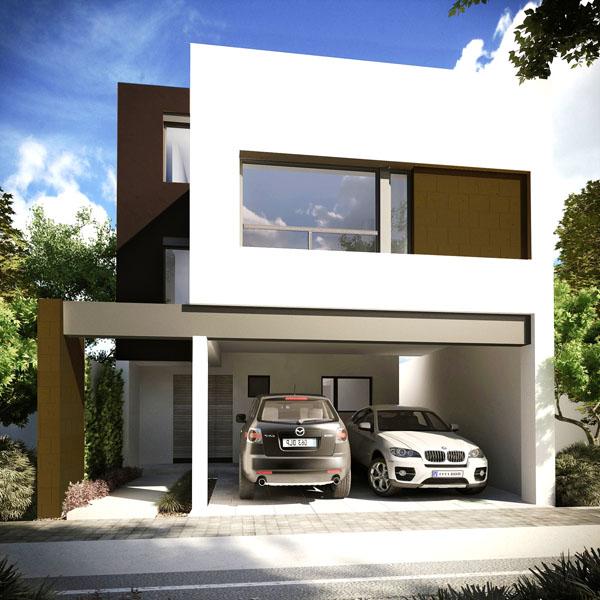 Fachadas contempor neas fachada contempor nea tipo d en for Estilos de casas contemporaneas