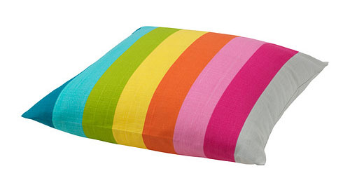 Ikea Skarum rainbow pillow
