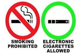 Prohibido fumar. Se permite vapear