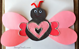valentines day butterfly craft