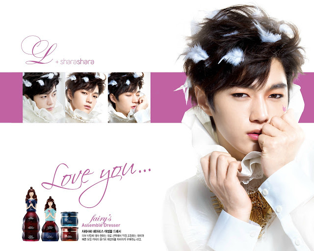 Image of Infinite L (Myungsoo) for make-up brand, Shara Shara