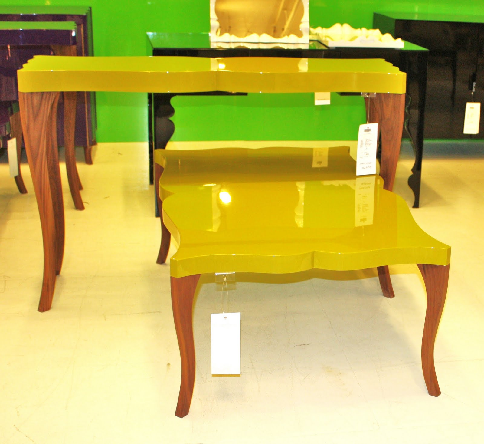 Traditional End Tables Are Easy To Come By At Thrift Stores But Taping Off  The Legs And Painting Only The Top In A Bright Lacquer Is A Quick Way To ...