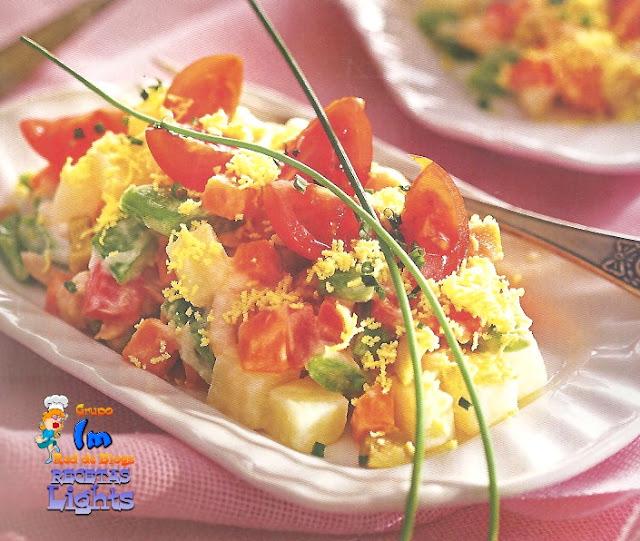 Ensaladilla rusa con tomatitos