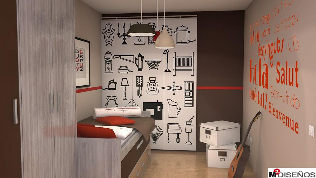 Otra opcion de vinilo decorativo para dormitorio juvenil a for Vinilos armarios dormitorio