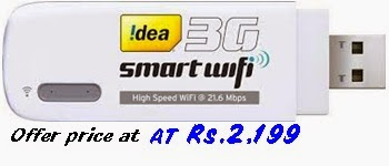 idea cellular introduced new smart 3g wifi dongle at rs 2 199 telecom tariff mobile offers. Black Bedroom Furniture Sets. Home Design Ideas