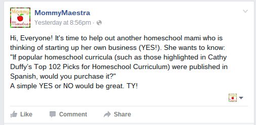 Mommy maestra would you purchase homeschooling curricula in spanish