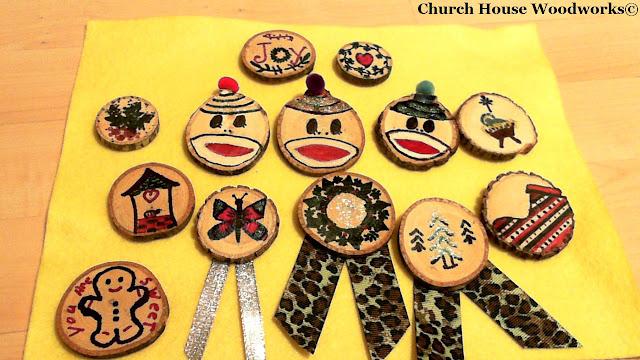 Christmas Tree Wood Slice Crafts