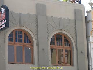 Zanzibar hotel facade detail