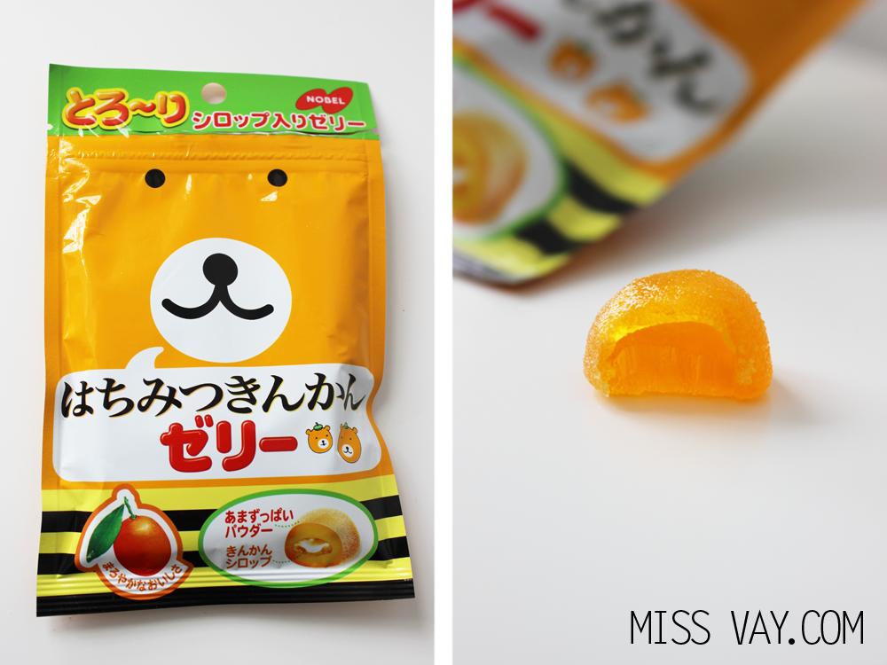 Candy Japan review bonbons kumquat honey jelly nobel