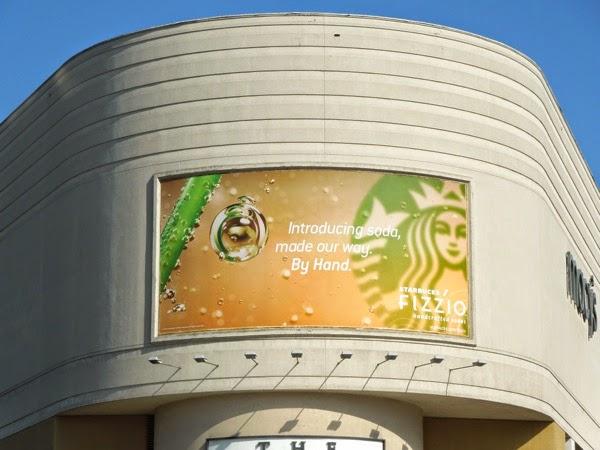 Starbucks Fizzio soda billboard