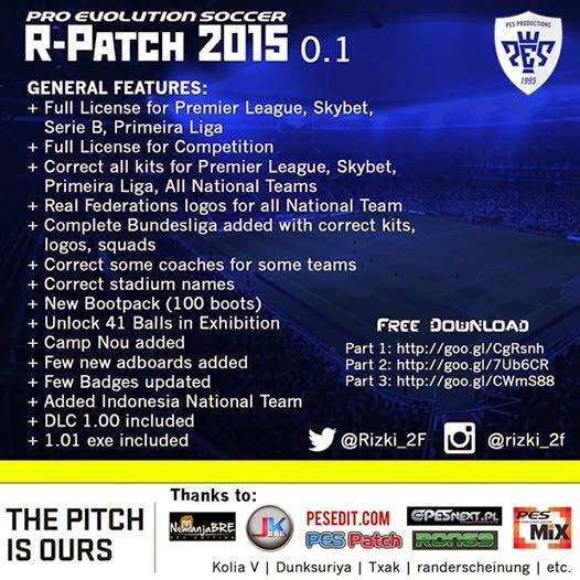 ‎PES 2015‬ Rizki_2F Patch 2015 0.1