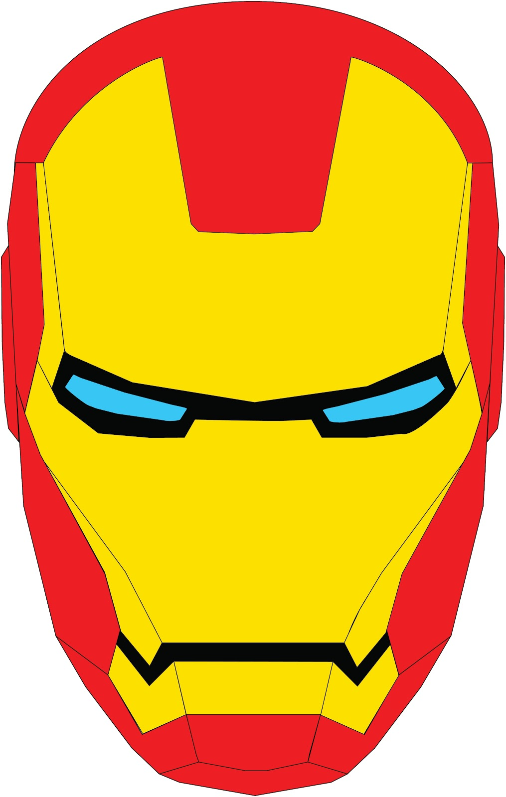 Picture Used To Make Iron Man Pattern Simplified Down
