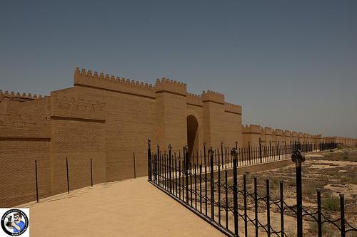 City Of Babylon Rebuilt Rebuilt walls of babylonBabylon City Walls