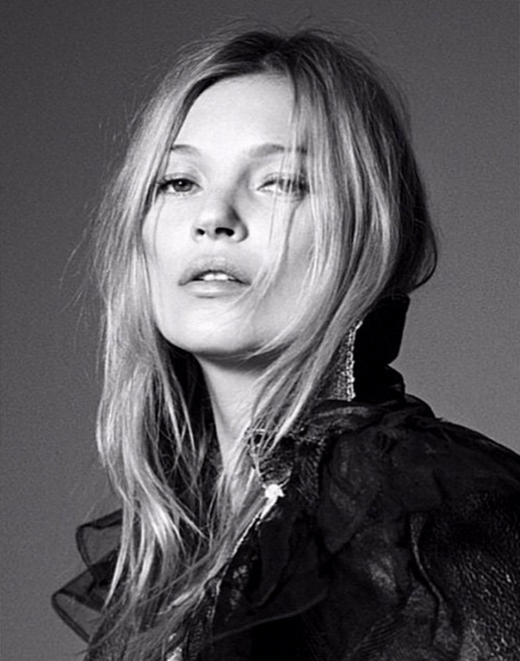 Kate Moss portrait by Willy Vanderperre