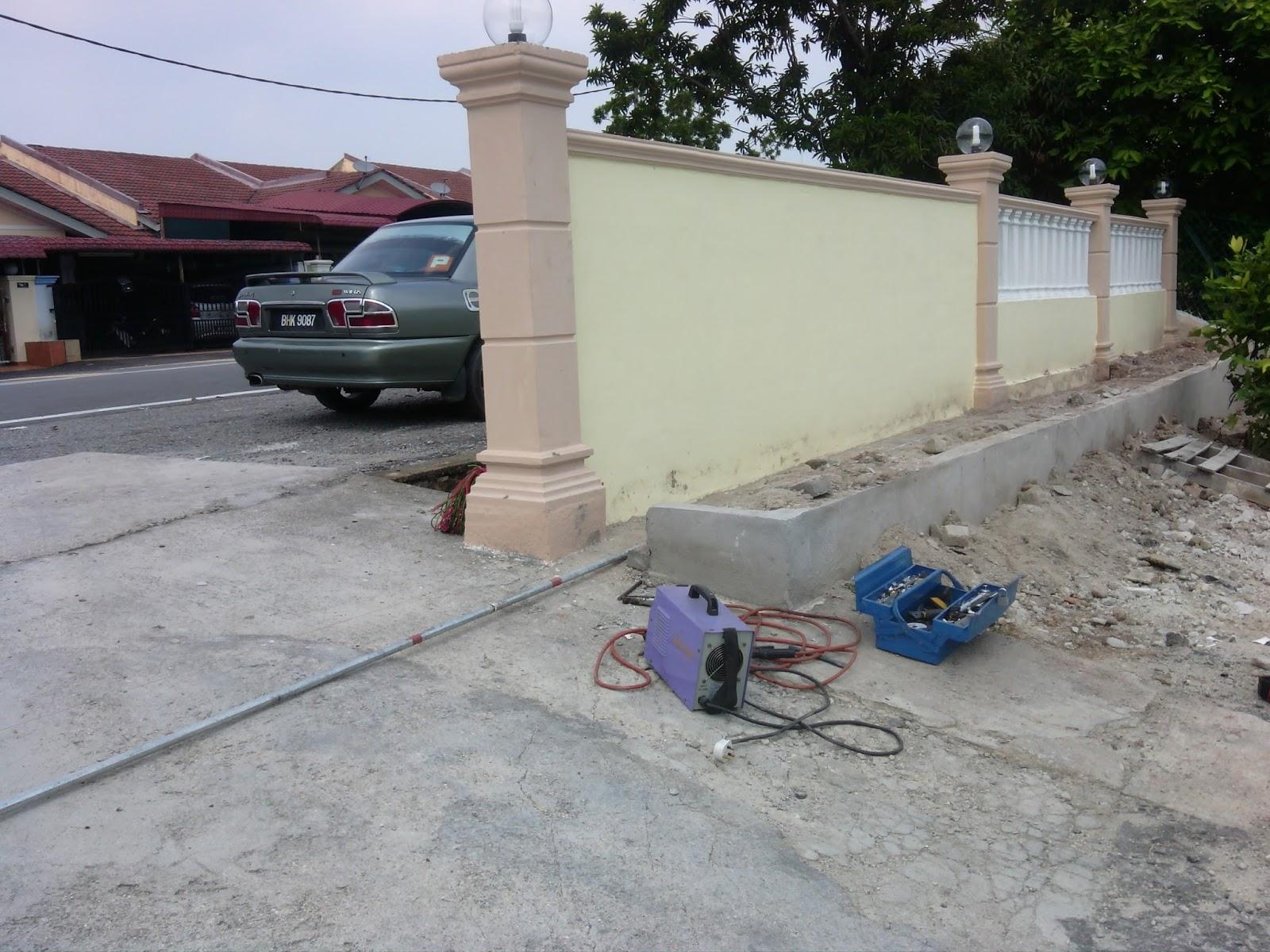 awning pagola dan grill memasang set pintu pagar surau