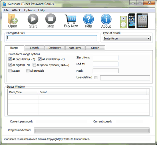 decrypt iPad backup with iTunes password recovery tool