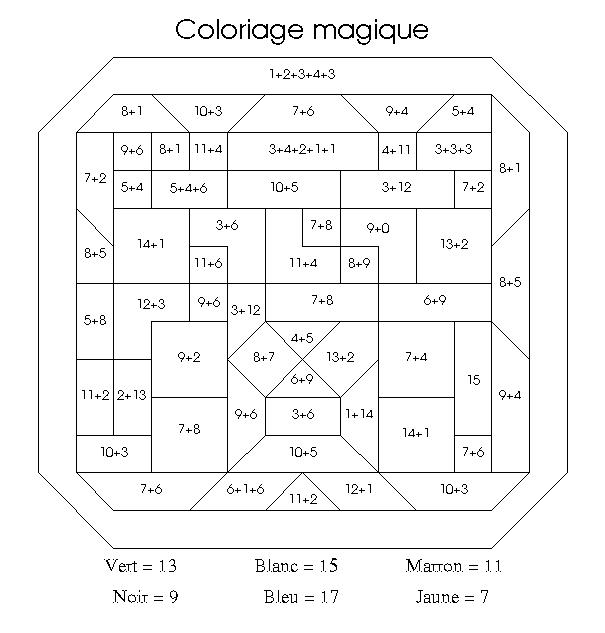 Coloriage Magique Soustraction Ce2 - Site de coloriages magiques La classe de Define