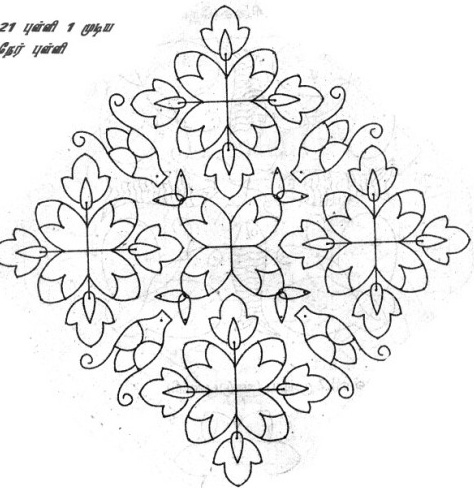 rangoli design patterns dot flower kolangal festival rangoli design