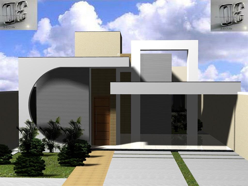 3danilo maquetes eletr nicas 3d fachada 3d casa b for Fachadas de casas modernas 2013