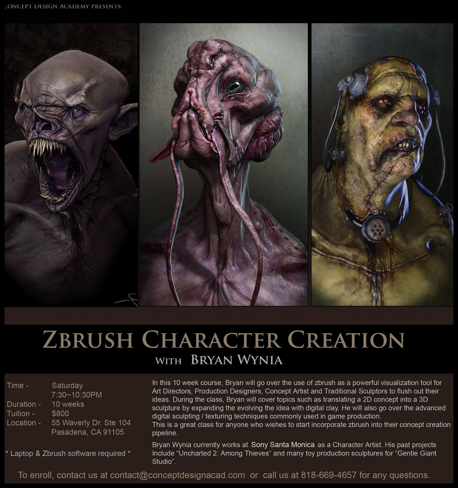 Character Design Zbrush : Concept design academy quot zbrush character creation with