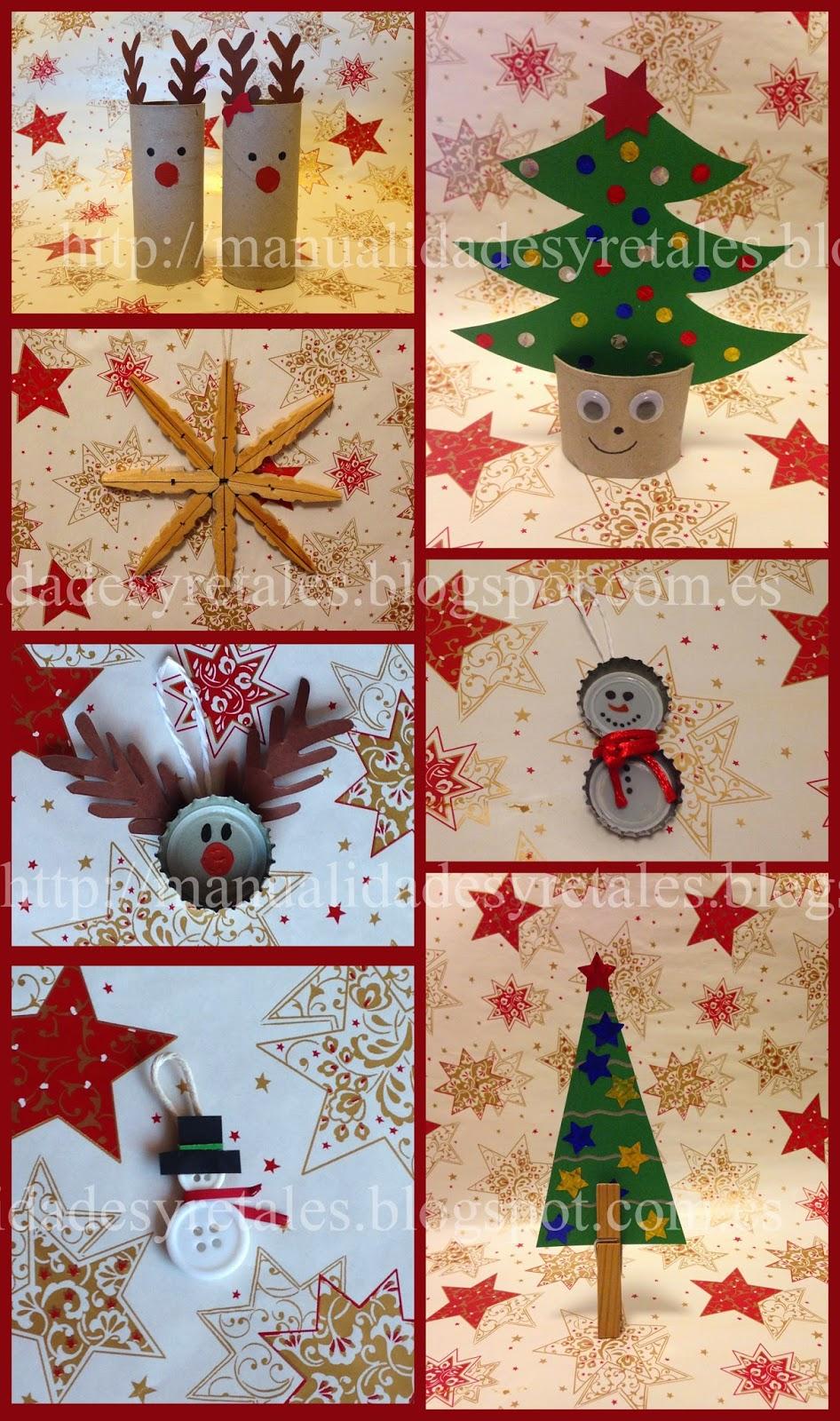 Manualidades y retales adornos navidad ni os for Adornos de navidad ninos