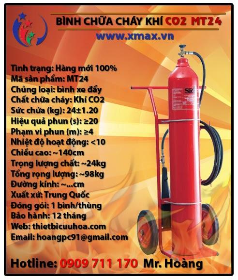 bình chữa cháy khí co2 dạng xe đẩy