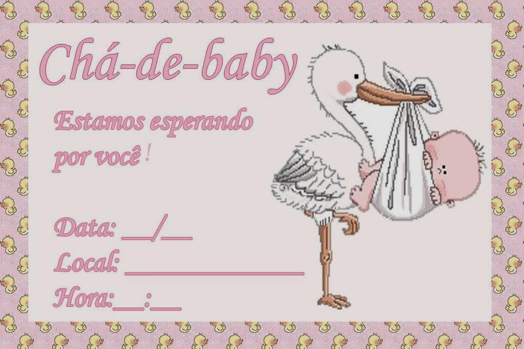 Convites para chá de bebê de menina 6