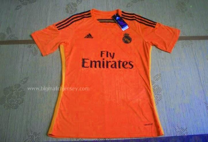 Jersey Grade Original Real Madrid Red-Orange Motif Naga Dragon Official liga Champions 2014-2015 Adidas