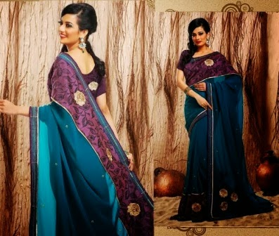 Colorful Indian Sarees 2014-15
