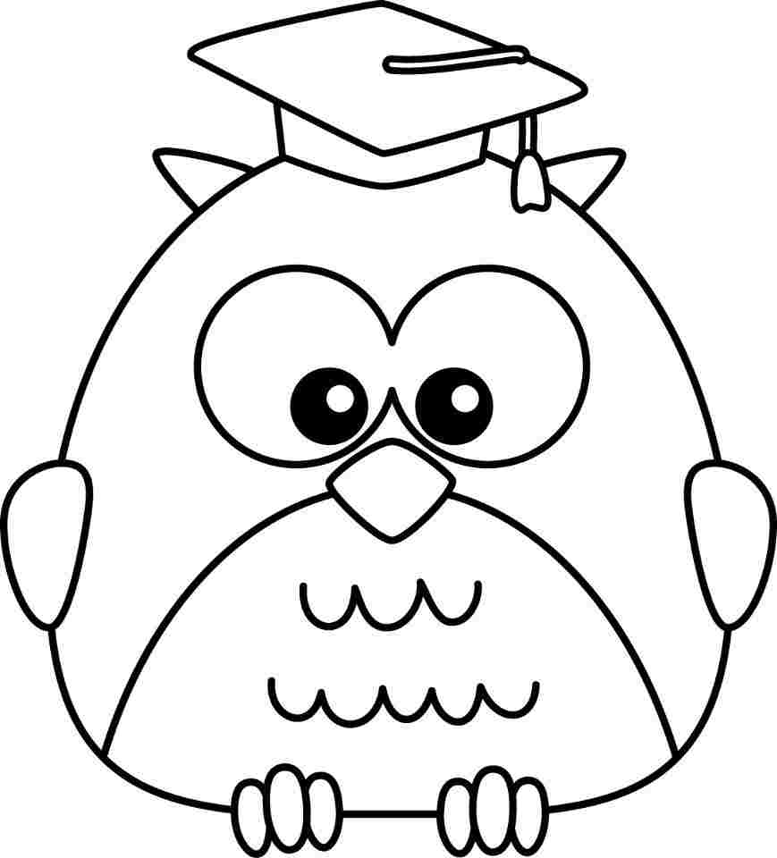 Owl pictures for kids to color