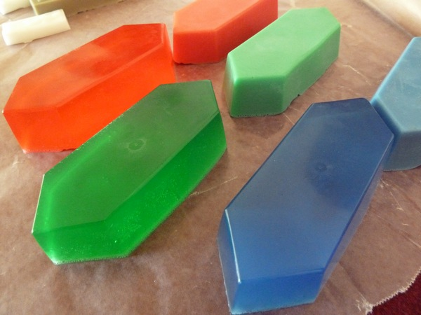 diy zelda rupee soap